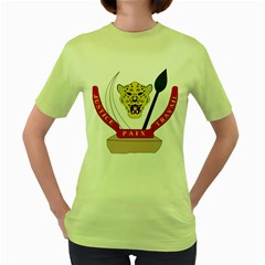 Coat of Arms of The Democratic Republic of The Congo Women s Green T-Shirt