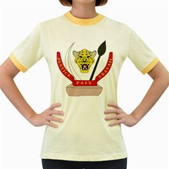 Coat of Arms of The Democratic Republic of The Congo Women s Fitted Ringer T-Shirts