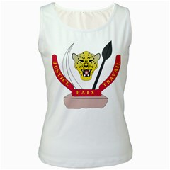 Coat of Arms of The Democratic Republic of The Congo Women s White Tank Top