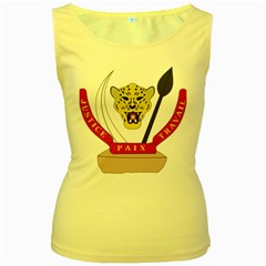 Coat of Arms of The Democratic Republic of The Congo Women s Yellow Tank Top