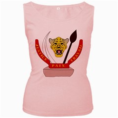 Coat of Arms of The Democratic Republic of The Congo Women s Pink Tank Top