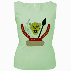 Coat of Arms of The Democratic Republic of The Congo Women s Green Tank Top