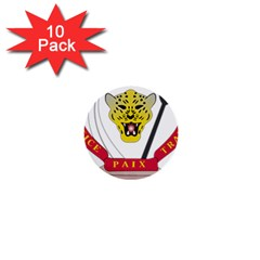Coat of Arms of The Democratic Republic of The Congo 1  Mini Buttons (10 pack)