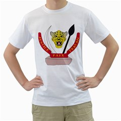 Coat of Arms of The Democratic Republic of The Congo Men s T-Shirt (White) (Two Sided)