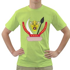 Coat of Arms of The Democratic Republic of The Congo Green T-Shirt