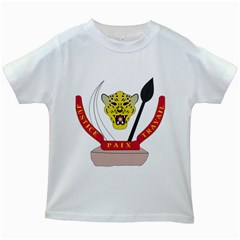 Coat of Arms of The Democratic Republic of The Congo Kids White T-Shirts