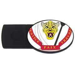 Coat of Arms of The Democratic Republic of The Congo USB Flash Drive Oval (2 GB)