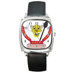 Coat of Arms of The Democratic Republic of The Congo Square Metal Watch