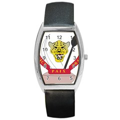 Coat of Arms of The Democratic Republic of The Congo Barrel Style Metal Watch
