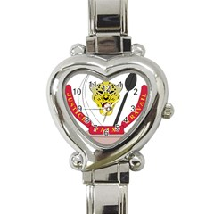 Coat of Arms of The Democratic Republic of The Congo Heart Italian Charm Watch