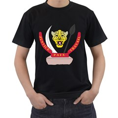 Coat of Arms of The Democratic Republic of The Congo Men s T-Shirt (Black) (Two Sided)