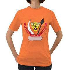 Coat of Arms of The Democratic Republic of The Congo Women s Dark T-Shirt