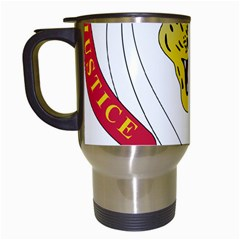 Coat of Arms of The Democratic Republic of The Congo Travel Mugs (White)