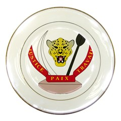 Coat of Arms of The Democratic Republic of The Congo Porcelain Plates