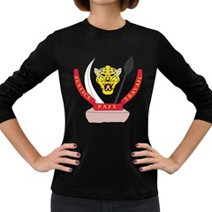 Coat of Arms of The Democratic Republic of The Congo Women s Long Sleeve Dark T-Shirts