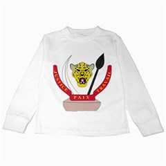 Coat of Arms of The Democratic Republic of The Congo Kids Long Sleeve T-Shirts