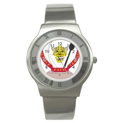 Coat of Arms of The Democratic Republic of The Congo Stainless Steel Watch