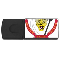 Coat of Arms of The Democratic Republic of The Congo USB Flash Drive Rectangular (4 GB)