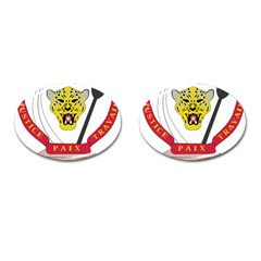 Coat of Arms of The Democratic Republic of The Congo Cufflinks (Oval)