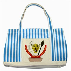 Coat of Arms of The Democratic Republic of The Congo Striped Blue Tote Bag