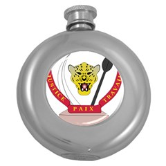 Coat of Arms of The Democratic Republic of The Congo Round Hip Flask (5 oz)