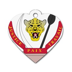 Coat of Arms of The Democratic Republic of The Congo Dog Tag Heart (One Side)