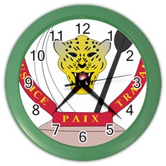 Coat of Arms of The Democratic Republic of The Congo Color Wall Clocks