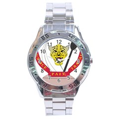 Coat of Arms of The Democratic Republic of The Congo Stainless Steel Analogue Watch