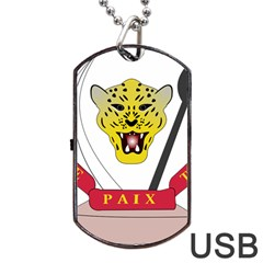 Coat of Arms of The Democratic Republic of The Congo Dog Tag USB Flash (One Side)
