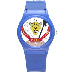 Coat of Arms of The Democratic Republic of The Congo Round Plastic Sport Watch (S)