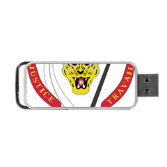 Coat of Arms of The Democratic Republic of The Congo Portable USB Flash (One Side)