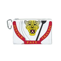 Coat of Arms of The Democratic Republic of The Congo Canvas Cosmetic Bag (S)