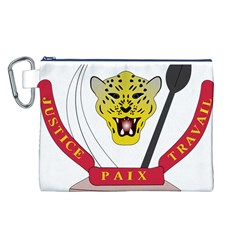 Coat of Arms of The Democratic Republic of The Congo Canvas Cosmetic Bag (L)
