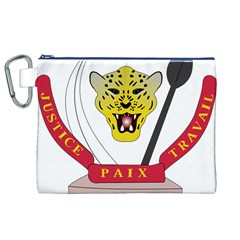 Coat of Arms of The Democratic Republic of The Congo Canvas Cosmetic Bag (XL)