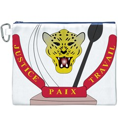 Coat of Arms of The Democratic Republic of The Congo Canvas Cosmetic Bag (XXXL)