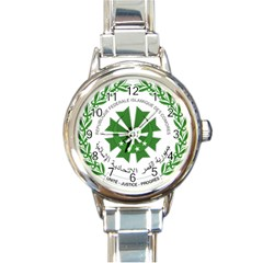 National Seal of the Comoros Round Italian Charm Watch