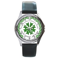 National Seal of the Comoros Round Metal Watch