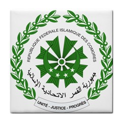 National Seal of the Comoros Tile Coasters