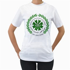 National Seal of the Comoros Women s T-Shirt (White) (Two Sided)