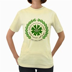 National Seal of the Comoros Women s Yellow T-Shirt