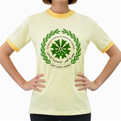 National Seal of the Comoros Women s Fitted Ringer T-Shirts