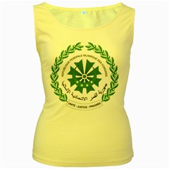 National Seal of the Comoros Women s Yellow Tank Top