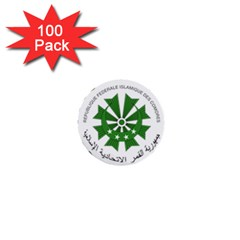National Seal of the Comoros 1  Mini Buttons (100 pack)