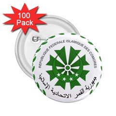National Seal of the Comoros 2.25  Buttons (100 pack)