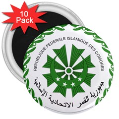 National Seal of the Comoros 3  Magnets (10 pack)