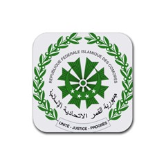 National Seal of the Comoros Rubber Square Coaster (4 pack)