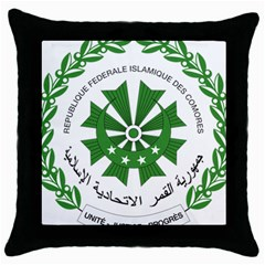 National Seal of the Comoros Throw Pillow Case (Black)