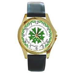 National Seal of the Comoros Round Gold Metal Watch