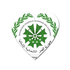 National Seal of the Comoros Heart Magnet
