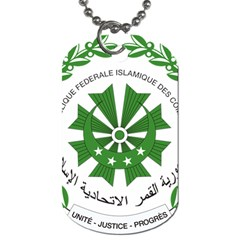 National Seal of the Comoros Dog Tag (Two Sides)